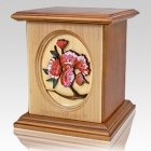 Eternal Flowers Wood Cremation Urn