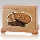 Sea Coast Oak Cremation Urn For Two