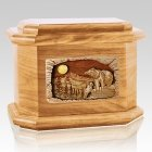 Country Haven Oak Octagon Cremation Urn