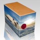 Heavenly Clouds Oak Pet Picture Urn III