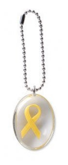 Yellow Ribbon Stone on a Chain