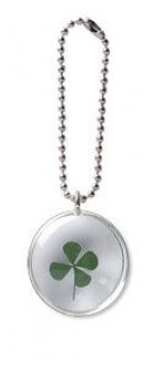 Clover Leave Stone on a Chain