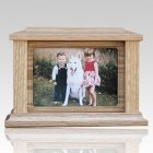 Pet Rectangle Picture Cremation Urn - Large