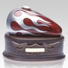 Red Motorcycle Cremation Urn