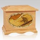 Surfer Oak Cremation Urn