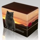 Country Walnut Pet Picture Urn III