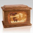 Elk Walnut Memory Chest Cremation Urn