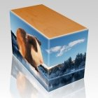 Winter Pet Picture Oak Urns
