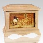 Last Horse Ride Maple Cremation Urn