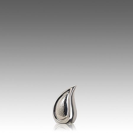 Teardrop Silver Mini Cremation Urn