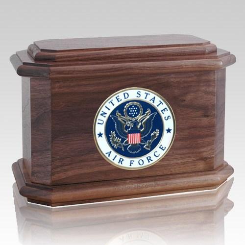 Patriot Air Force Walnut Wood Urn