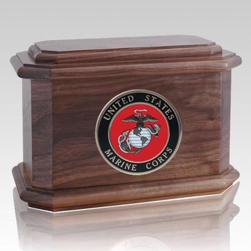 Patriot Marines Walnut Wood Urn