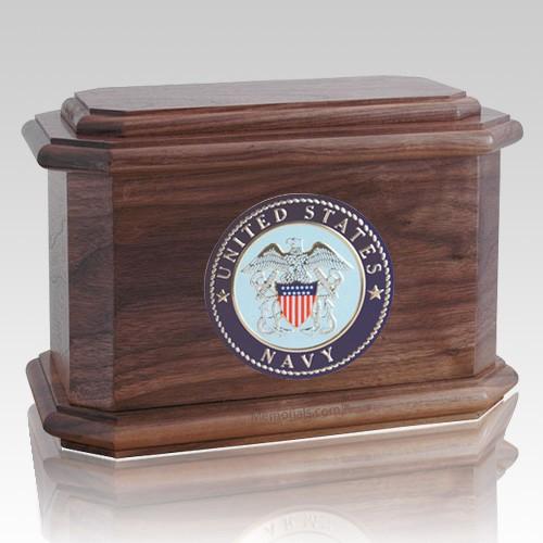 Patriot Navy Walnut Wood Urn