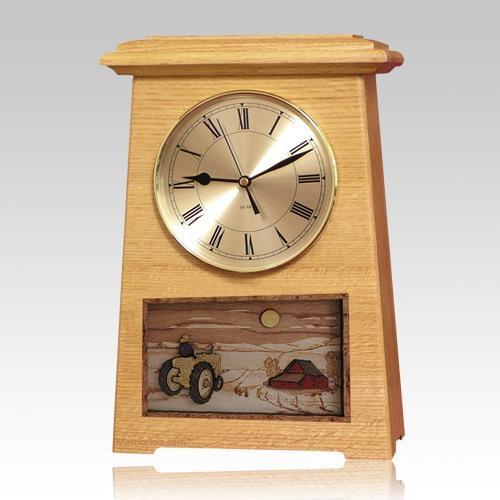 Tractor Astoria Clock Oak Cremation Urn