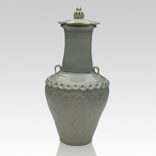Lotus Chinese Companion Cremation Urn