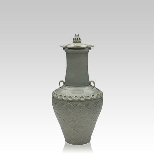 Lotus Chinese Small Cremation Urn