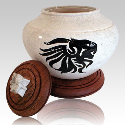 Lion Tribal Cremation Urn