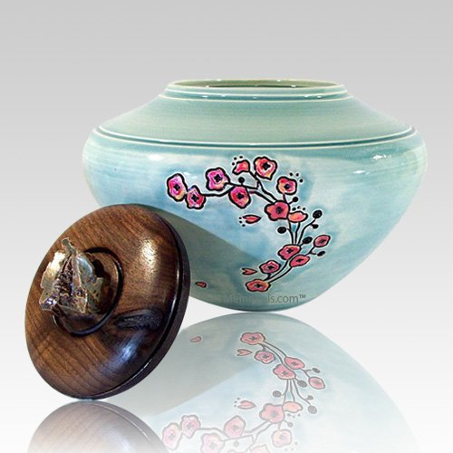 Flower Green Cremation Urn