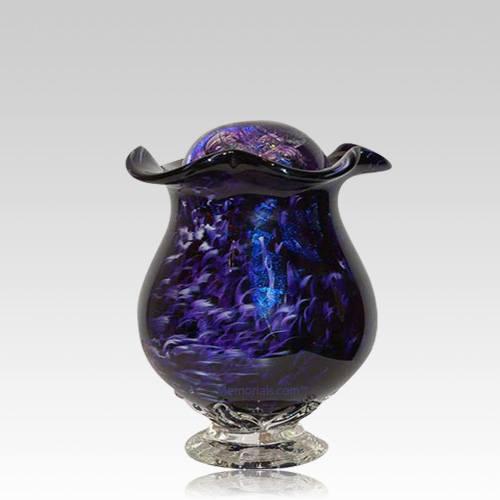 Purple Mirror Keepsake Cremation Urn