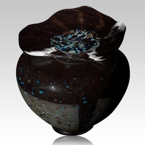 Milano Blackola Glass Cremation Urn