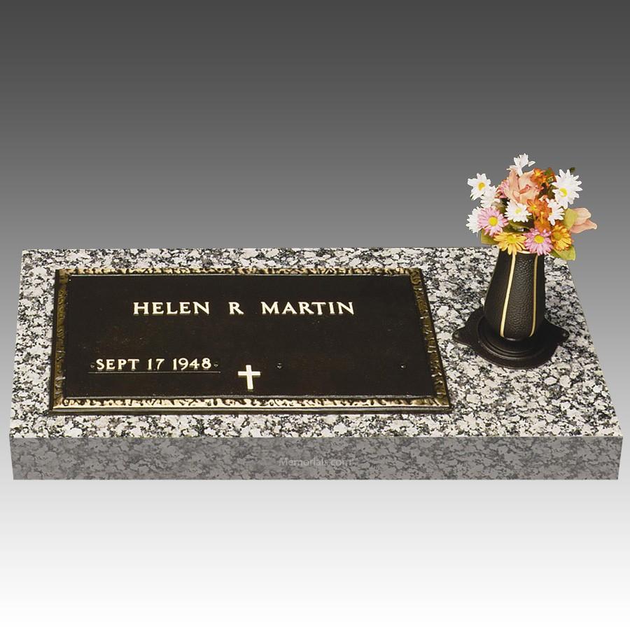 Veteran Bronze Grave Marker Side Vase