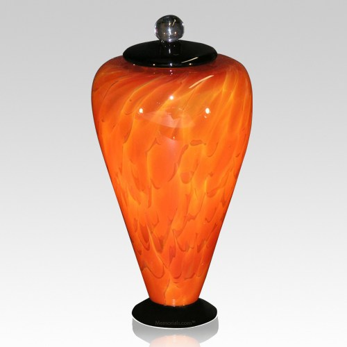 Volcano Glass Cremation Urn