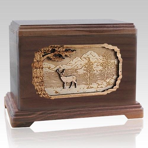 Deer Walnut Hampton Cremation Urn