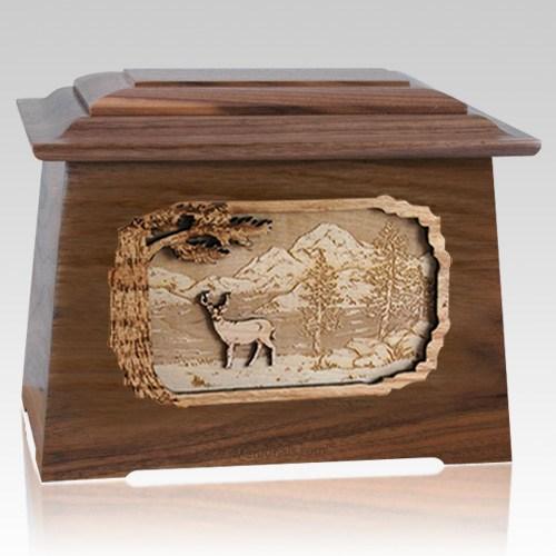 Deer Walnut Aristocrat Cremation Urn