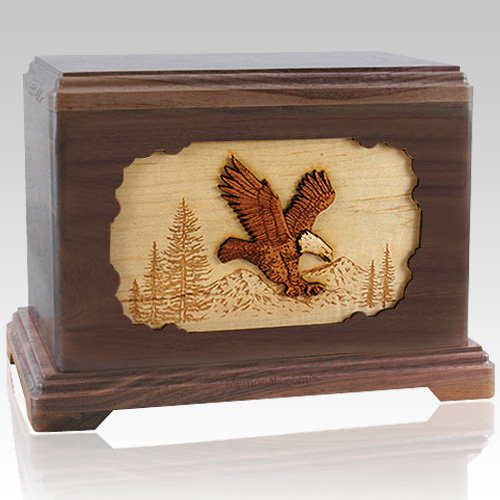 Eagle Walnut Cremation Urn For Two