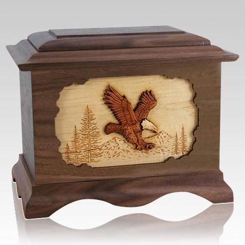 Eagle Walnut Cremation Urn