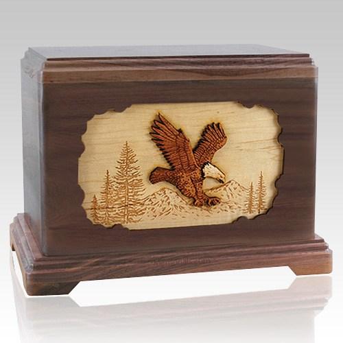 Eagle Walnut Hampton Cremation Urn