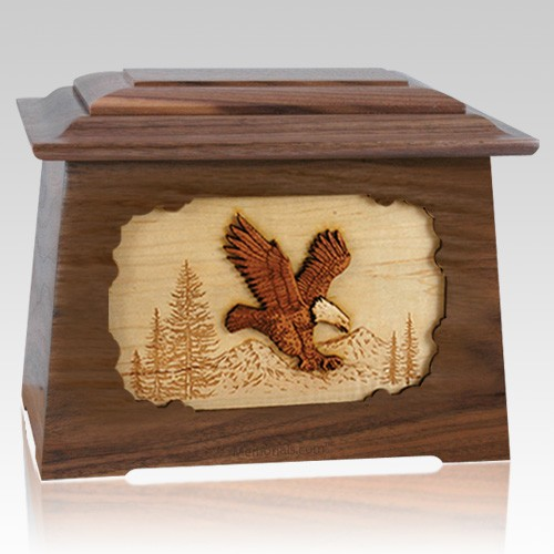 Eagle Walnut Aristocrat Cremation Urn