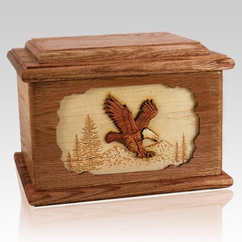 Eagle Walnut Memory Chest Cremation Urn