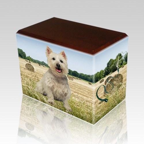 Bailing Hay Walnut Pet Picture Urn