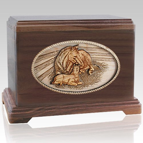 Daddys Love Walnut Cremation Urn For Two