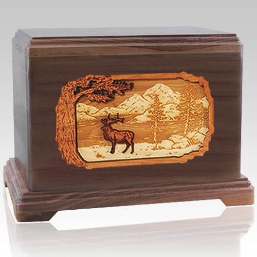 Elk Walnut Cremation Urn For Two