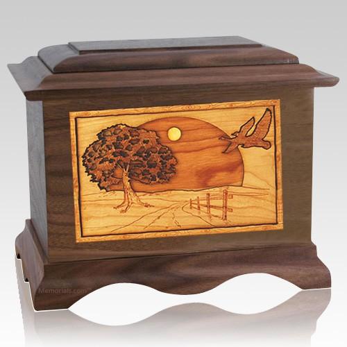 Geese Walnut Cremation Urn