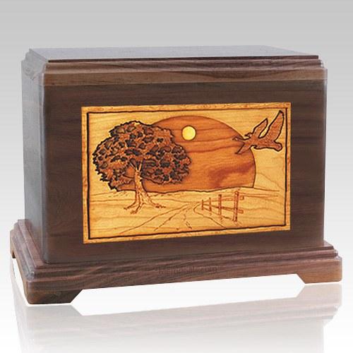 Geese Walnut Hampton Cremation Urn