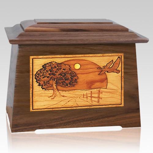 Geese Walnut Aristocrat Cremation Urn
