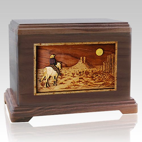 Horse Moon Walnut Hampton Cremation Urn