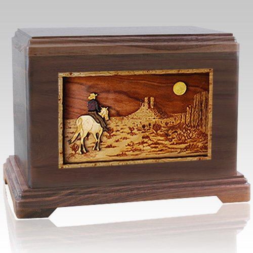 Last Ride Walnut Cremation Urn For Two