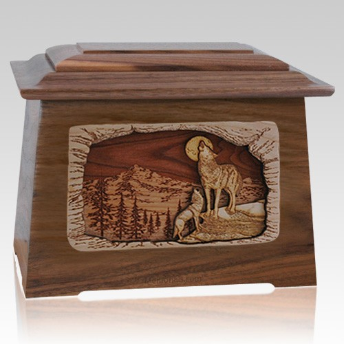 Moonlight Serenade Walnut Aristocrat Cremation Urn