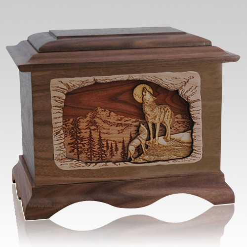 Moonlight Serenade Walnut Cremation Urn