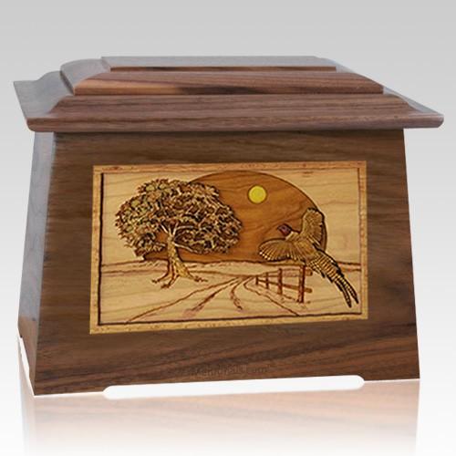 Pheasant Walnut Aristocrat Cremation Urn