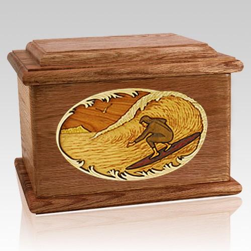 Surfer Walnut Memory Chest Cremation Urn