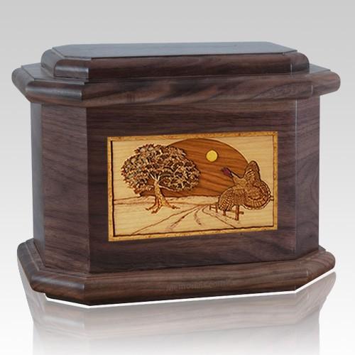 Turkey Walnut Octagon Cremation Urn