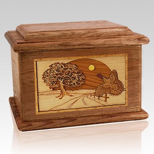 Turkey Walnut Memory Chest Cremation Urn