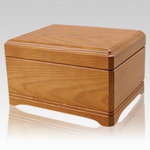 Westhampton Oak Wood Cremation Urn
