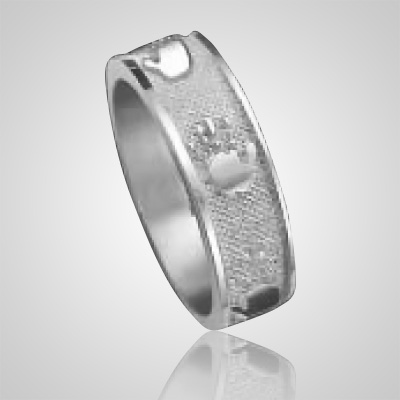 Heirloom Ring Print 14k White Gold Keepsakes