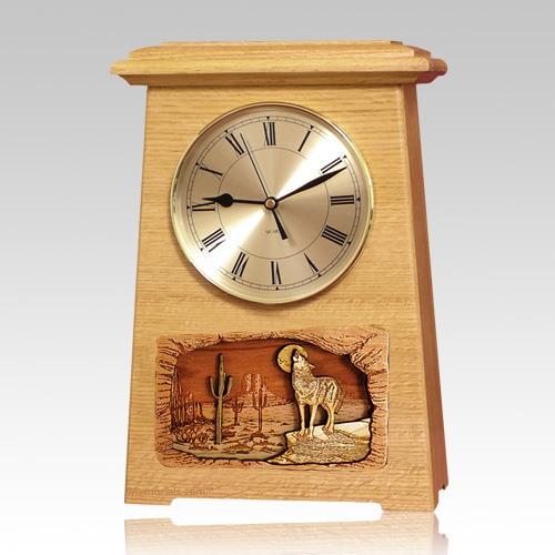 Wolf Astoria Clock Oak Cremation Urn
